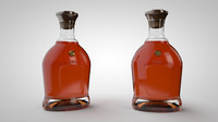 c4d cognac bottle