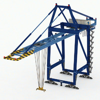 3ds max port crane container