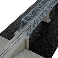 bridge railway c4d