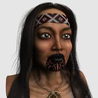 head maori girl obj