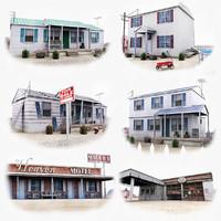 3ds max american western village