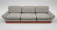 maya grey sofa mahogany wood