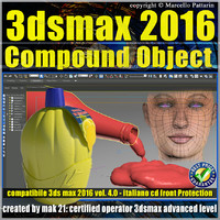 3ds max 2016 Compound Object 1 volume 4 Italiano_cd front