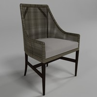 vincent chair - palecek 3d model