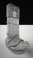 3d turtle stone model