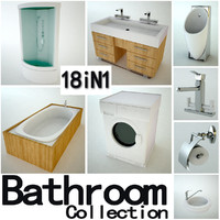 3d bathroom furniture bath model