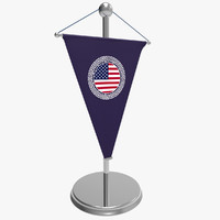 3d model of flag desktop