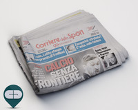 corriere sport newspaper 3d model