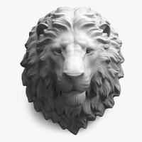 Lion Head (High Poly)