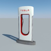 tesla supercharger 3d 3ds