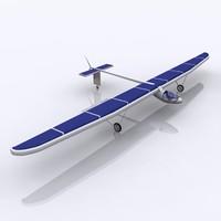 3d model solar aircraft