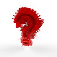 3d question mark symbol model