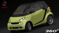 smart fortwo 2010 3d max