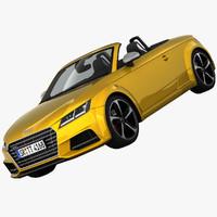 audi tts roadster sports 3d 3ds