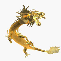 chinese dragon 3d obj