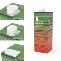 tetrapak tetra 1000 square 3d obj