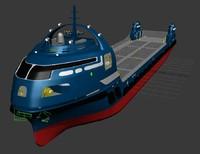 cargo ship futuristic max