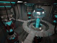 3d scifi base reactor model