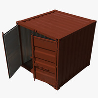 3d model 8 ft storage container
