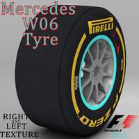 3d pirelli tyre w06