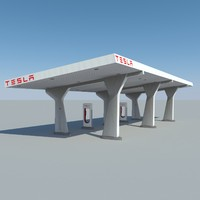3ds max tesla supercharging station
