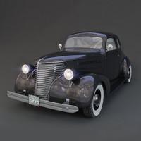 chevrolet master 1938 3d model