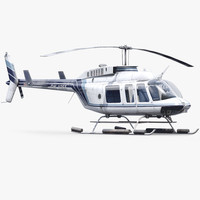 3d model helicopter bell 206l