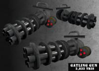 gatling gun 3d 3ds