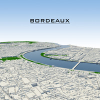 3dsmax bordeaux cityscape