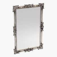 3d traditional carved mirror
