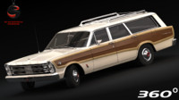 3d model country squire 1966