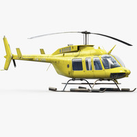 3d bell 206l helicopter
