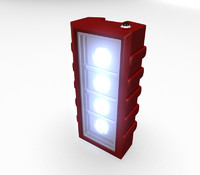 3ds max emergency light