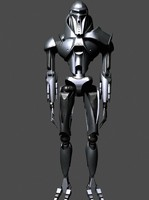 3d scary robot