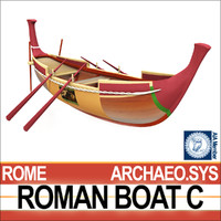 3ds max ancient roman boat c