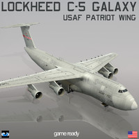 3d lockheed c-5 galaxy usaf model