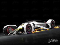 3d model chevrolette chaparral 2x vision