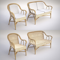 wicker chair sofa 3d max