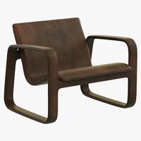 3dsmax baxter nubi armchair