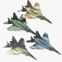 3ds max mig29 fighter jets mig