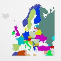 3d model of europe