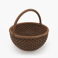 3d realistic wicker basket