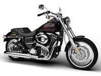 3d model harley-davidson fxdl dyna rider