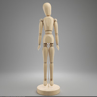 3ds max wooden man gestalta