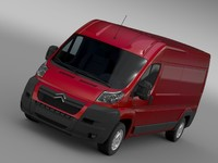 3d model citroen relay van