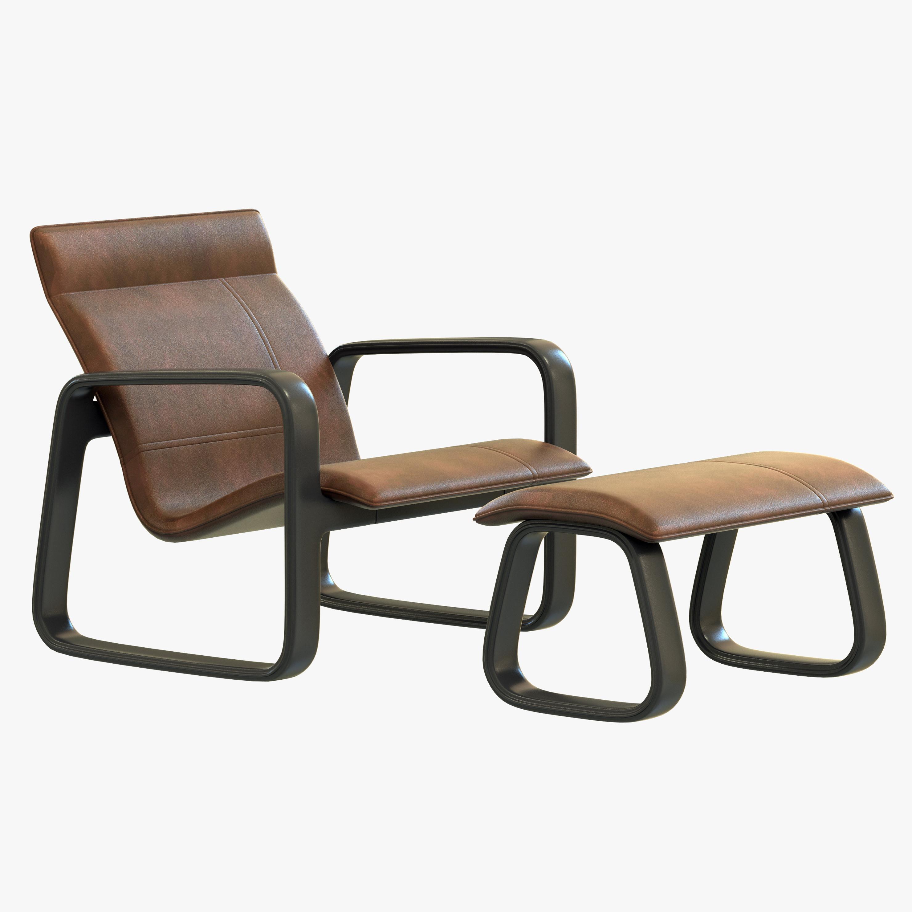 3d model baxter nubi chaise for Chaise quadriceps