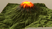 vulcano 3d model