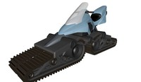 3d model futuristic snowmobile ski-doo