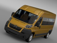 citroen relay window 3d obj