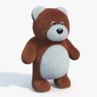 3ds max realistic teddy bear 02